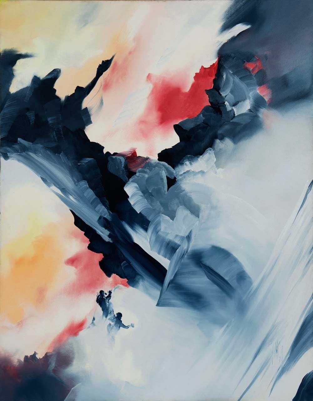 peinture Himalaya - Jean-Georges INCA